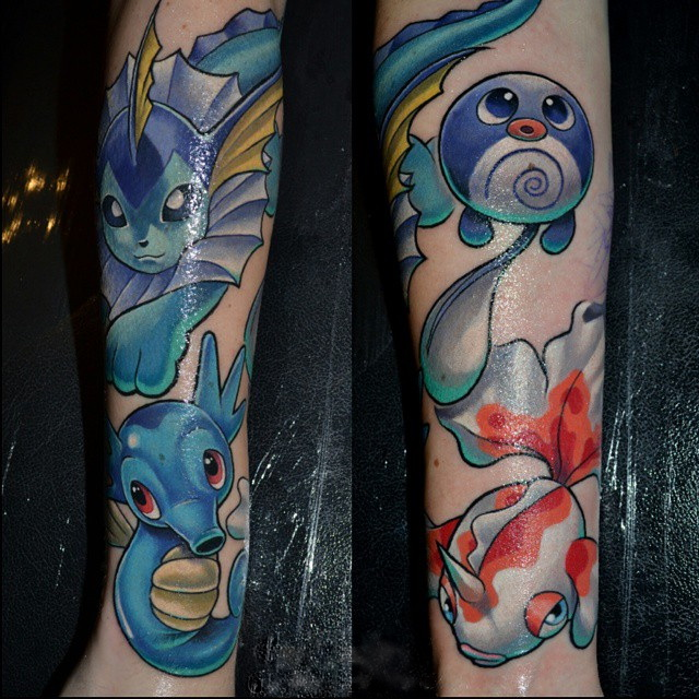 Amazing-Pokemon-tattoo-on-Arm-by-Troy-Slack